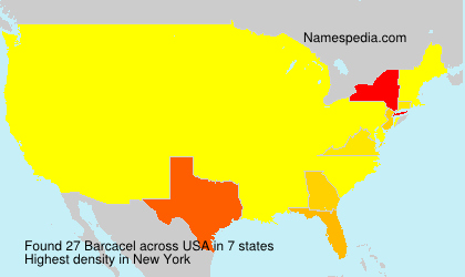 Surname Barcacel in USA