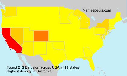 Familiennamen Barcelon - USA