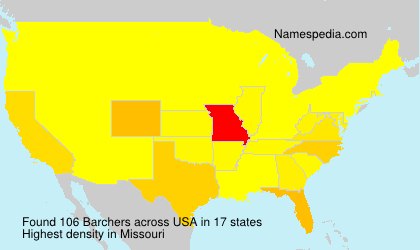 Surname Barchers in USA
