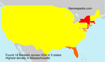 Familiennamen Bardakh - USA