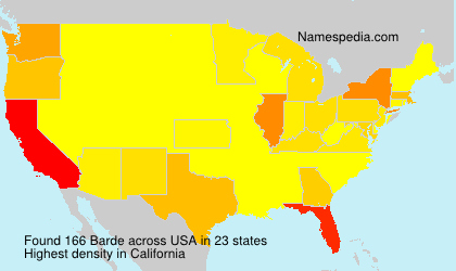 Surname Barde in USA