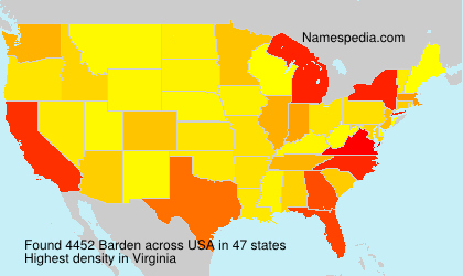 Surname Barden in USA