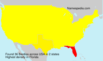 Surname Bardisa in USA