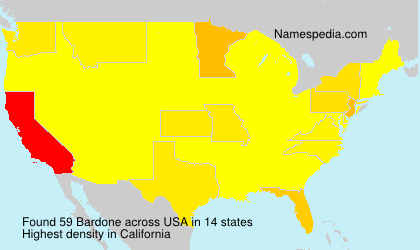Surname Bardone in USA