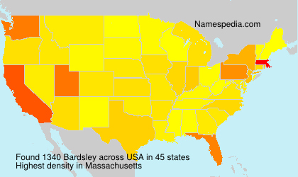 Surname Bardsley in USA