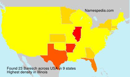 Familiennamen Baresch - USA