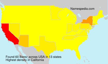 Surname Barez in USA