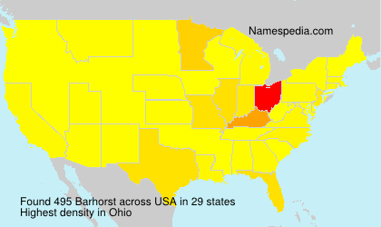 Surname Barhorst in USA
