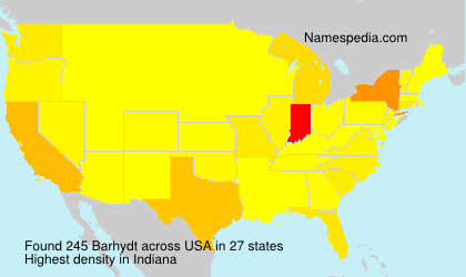 Surname Barhydt in USA
