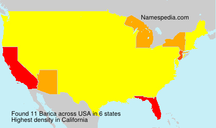 Surname Barica in USA