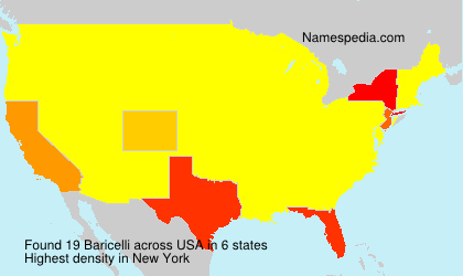Surname Baricelli in USA