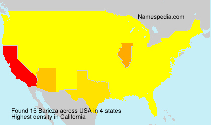 Surname Baricza in USA