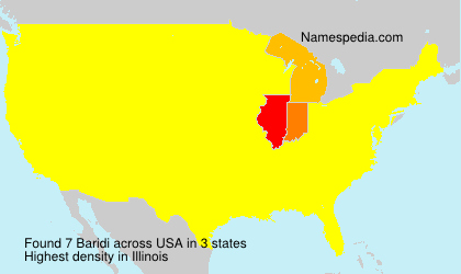 Familiennamen Baridi - USA