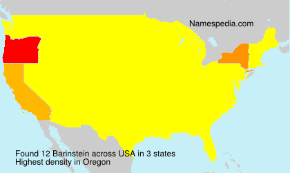 Surname Barinstein in USA