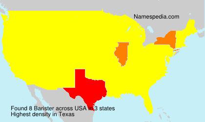 Familiennamen Barister - USA