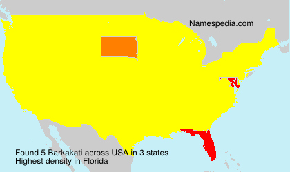 Familiennamen Barkakati - USA