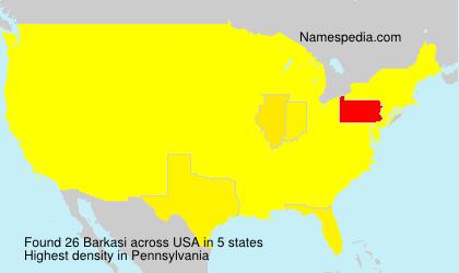 Surname Barkasi in USA