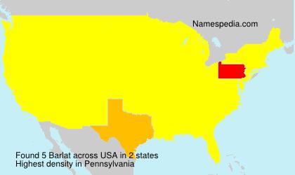 Surname Barlat in USA