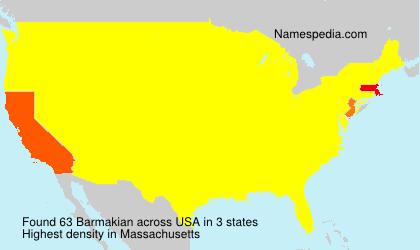 Familiennamen Barmakian - USA