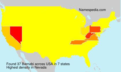 Surname Barnabi in USA