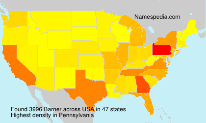Surname Barner in USA