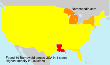 Surname Barnewold in USA
