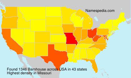 Familiennamen Barnhouse - USA