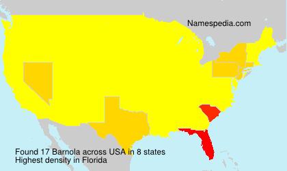 Familiennamen Barnola - USA