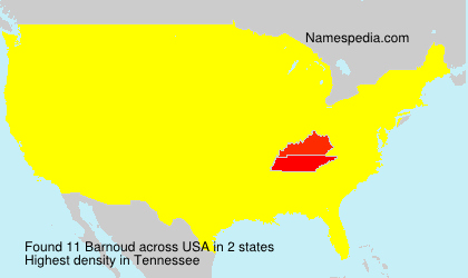 Surname Barnoud in USA
