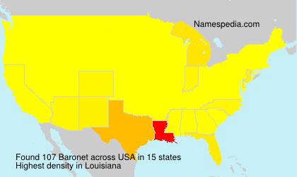 Familiennamen Baronet - USA