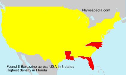 Familiennamen Barozzino - USA