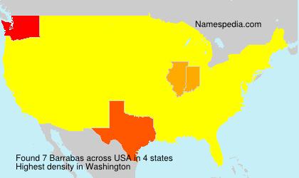 Surname Barrabas in USA
