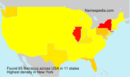 Surname Barracca in USA