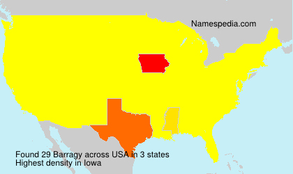 Surname Barragy in USA