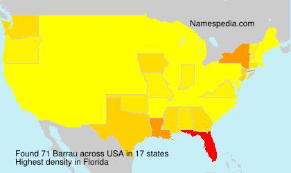 Surname Barrau in USA