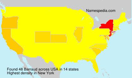 Surname Barraud in USA
