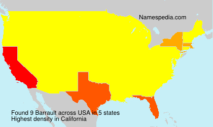 Surname Barrault in USA