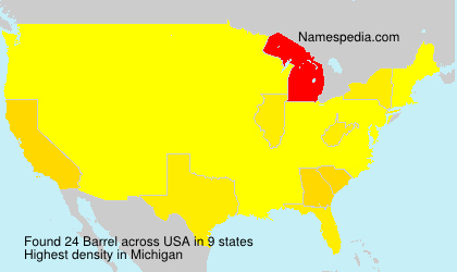 Surname Barrel in USA