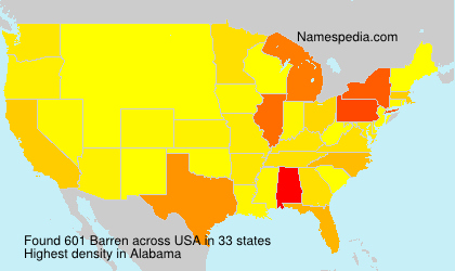 Surname Barren in USA