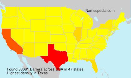 Surname Barrera in USA