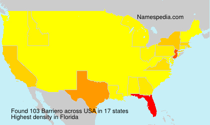 Surname Barriero in USA