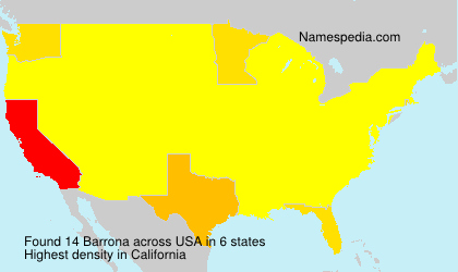 Familiennamen Barrona - USA