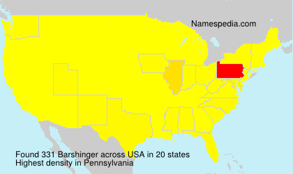 Surname Barshinger in USA