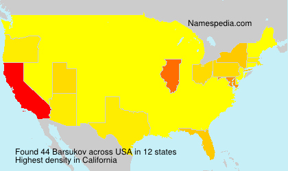 Surname Barsukov in USA
