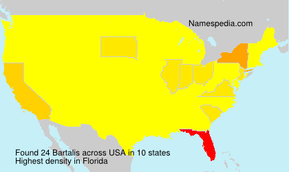 Surname Bartalis in USA