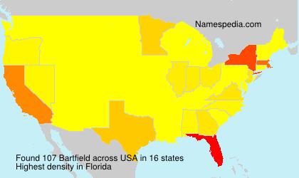 Familiennamen Bartfield - USA