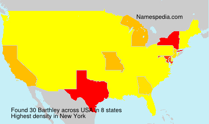 Surname Barthley in USA