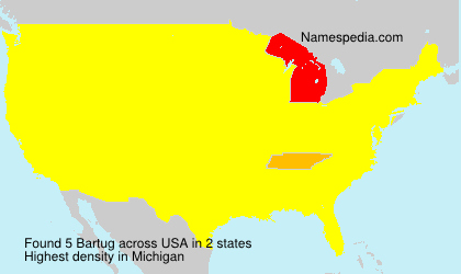 Familiennamen Bartug - USA