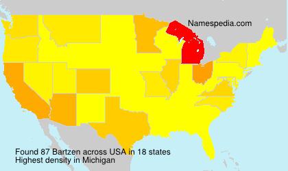 Surname Bartzen in USA