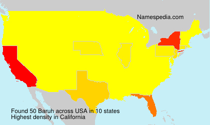 Surname Baruh in USA